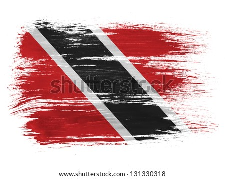 Trinidad and Tobago flag - stock photo