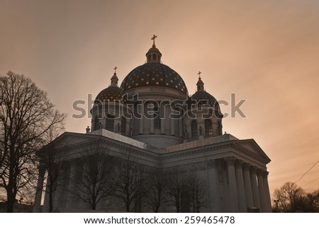 Trinity Cathedral. Saint Petersburg, Russia