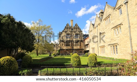 Trinity College Gardens, Oxford, United kingdom - stock photo