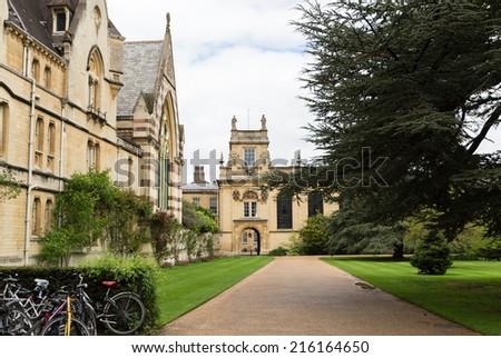 trinity college oxford uk - stock photo