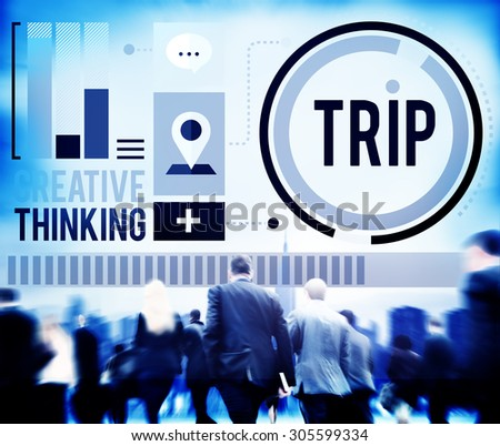 Trip Adventure Travel Destinations Recreation Concept - stock photo