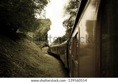trip old train - stock photo