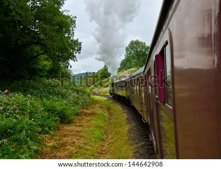 trip old train - stock photo
