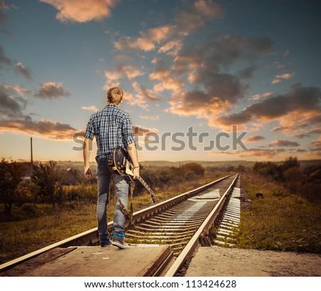 trip to horizon - stock photo