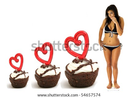 triple brownie weightloss - stock photo