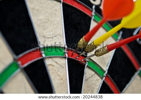 Triple hit point in darts - stock photo