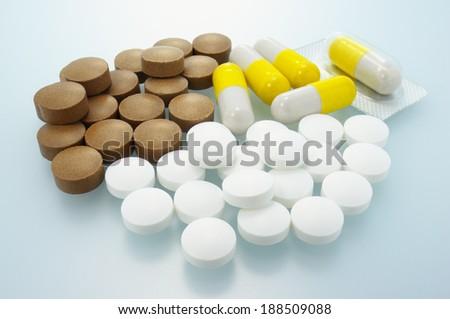 Triple supplement. Closeup of supplement.  - stock photo