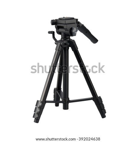 Tripod stand isolated on white background.  - stock photo