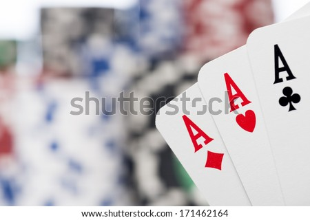 tris of aces - stock photo