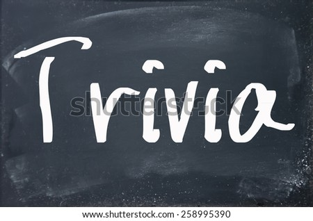 trivia word write on paper  - stock photo