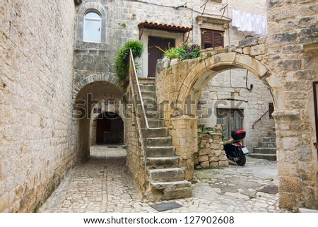 Trogir, town in Croatia - stock photo