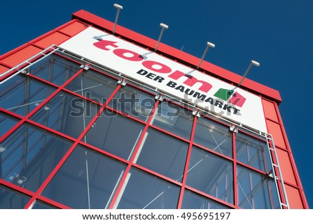 TROISDORF, GERMANY - October 9, 2016: toom hardware store. toom is one of the largest German DIY retailer and part of the REWE Group.