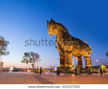 Trojan horse, Canakkale Turkey - stock photo