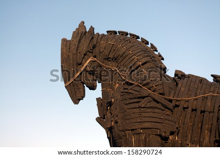 Trojan Horse in Canakkale ,Turkey.  - stock photo