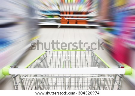 Trolley at supermarket