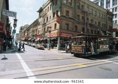 Trolley in Downtown