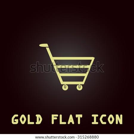 Trolley Market Gold Flat Icon Symbol Stock Illustration 315268880
