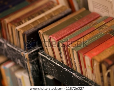 Trolley of books