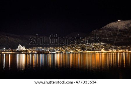 Tromso by night, Arctic Norway