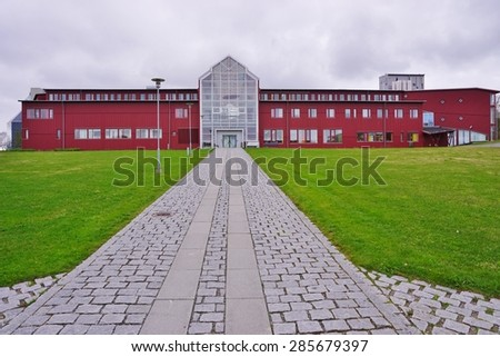 TROMSO, NORWAY -29 MAY 2015- Tromso University, also known as the Arctic university of Norway (UiT), is the northernmost university in the world.