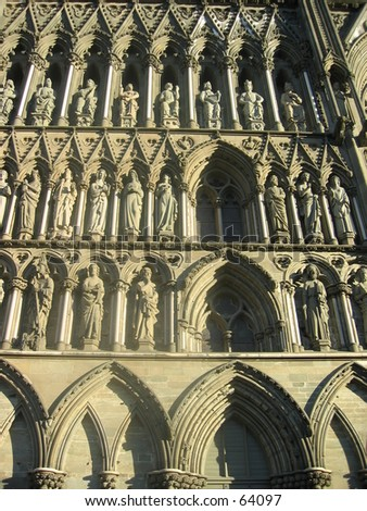 Trondheim Cathedral - stock photo
