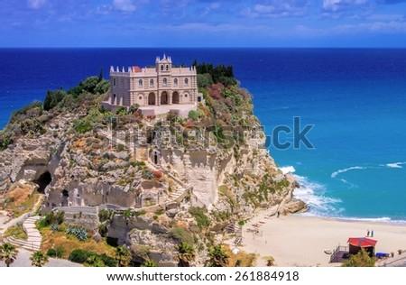 Tropea church  - stock photo
