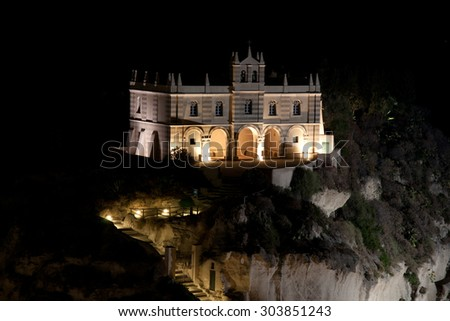 Tropea, Italy, the Island by night 02