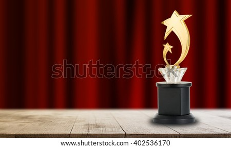 Trophy awards after successful winner for your business.  - stock photo