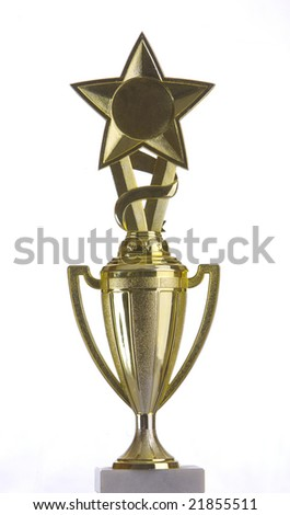 Trophy cup with a star on top