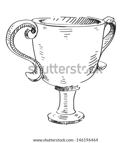 Trophy goblet - stock photo