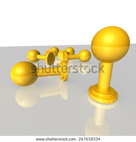 Trophy Gold - stock photo