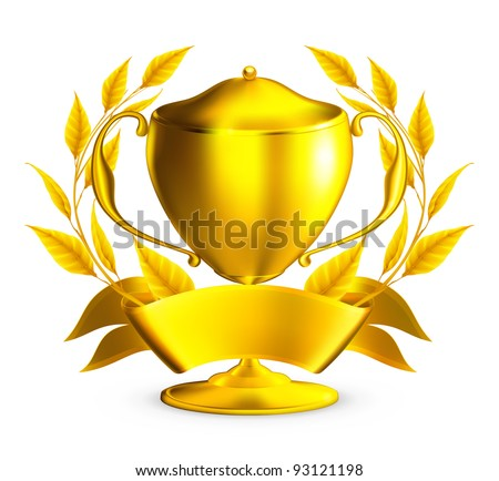 Trophy gold, bitmap copy - stock photo