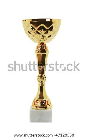 Trophy isolated on white background - stock photo