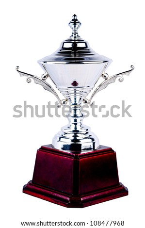 Trophy isolated with white background. Winner award of Champion (included Clipping path)