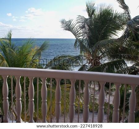 Tropical balcony view.  - stock photo