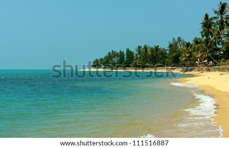 Tropical beach and sea view in Thailand