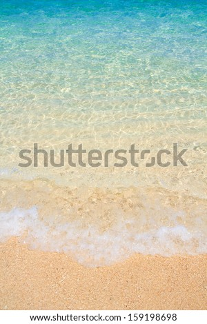 Tropical beach and Wave in Andaman Sea asia Thailand  - stock photo