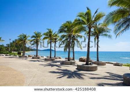 Tropical beach at beautiful ,Mae Ramphueng beach ,Rayong Thailand
