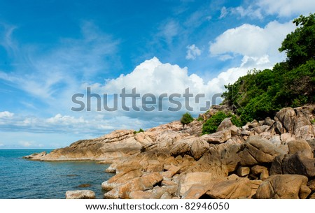 Tropical beach at Seychelles - vacation background