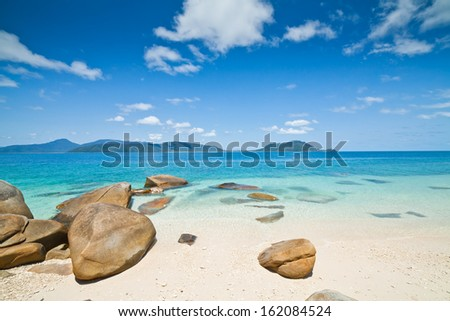 tropical beach - Australia - stock photo