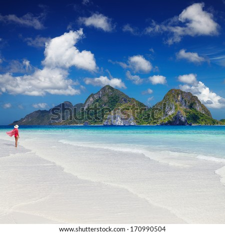 Tropical beach, El-Nido, Philippines - stock photo