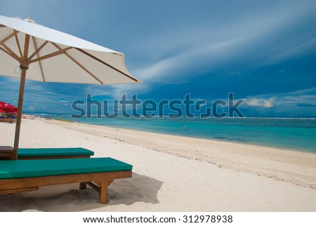 Tropical beach in Bali. The beach called Pandawa. - stock photo