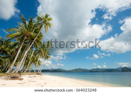 Tropical Beach in El Nido, Palawan, The Philippines - stock photo