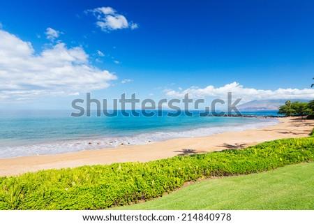Tropical Beach in Hawaii - stock photo