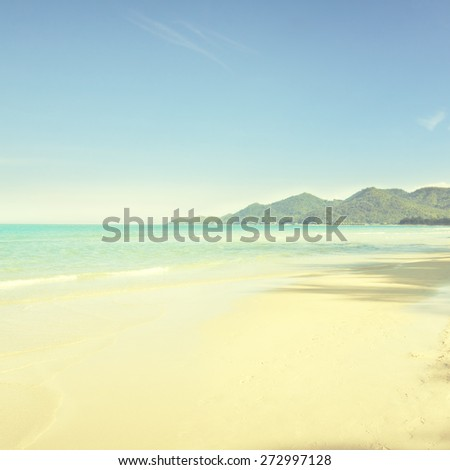 Tropical beach in sunny day. - stock photo