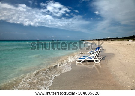Tropical Beach in Varadero, Cuba