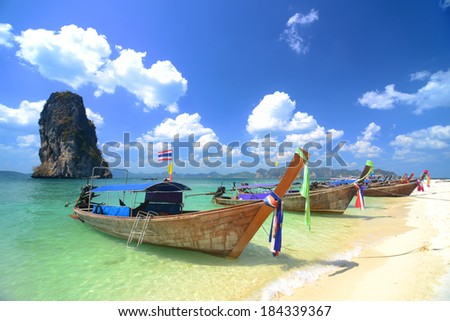 Tropical beach, Kho Poda in Krabi Thailand