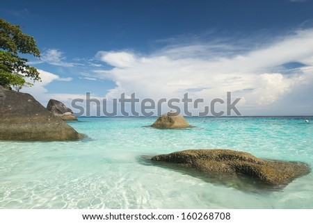 Tropical beach of Similan island, Thailand