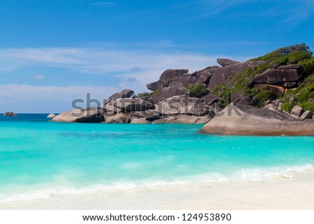 Tropical beach of Similan islands, Thailand