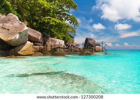Tropical beach of Similan islands, Thailand - stock photo
